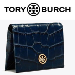 Tory Burch • Parker Embossed Foldable Card Case